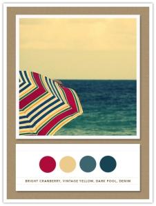 paleta de cores para decoracao vermelho azul e areia
