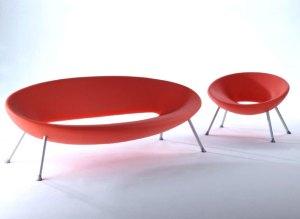 sofa design vermelho