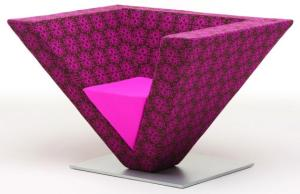 poltrona triangular pink