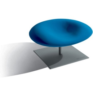 poltrona azul redonda