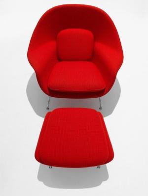 poltrona design vermelha