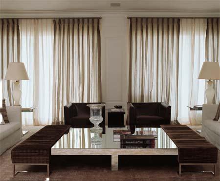 decoração de sala com cortina