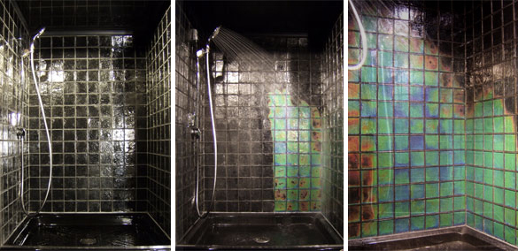 azulejos que mudam de cor