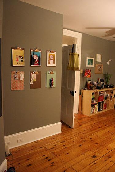 decoracao com quadros na parede