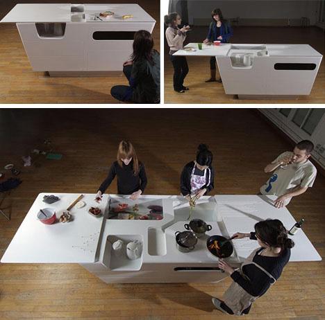 design de bancada de cozinha