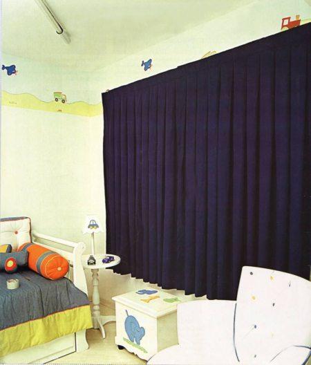 cortina em quarto infantil