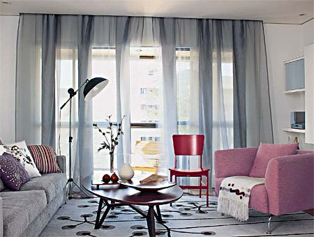 cortina transparente esvoacante