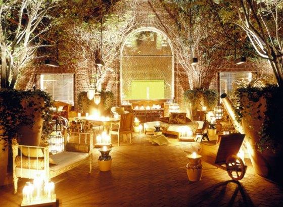 decoração de jardim a luz de velas
