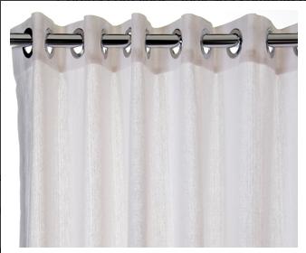 ilhoses de metal na cortina