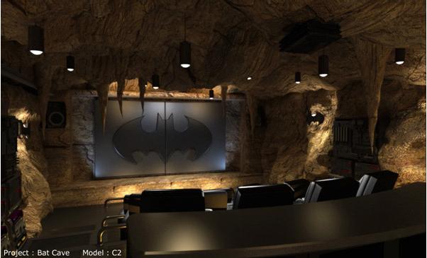 sala de cinema do batman