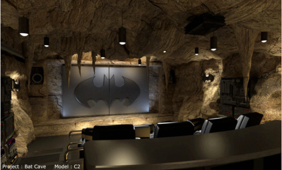 sala de cinema do batman