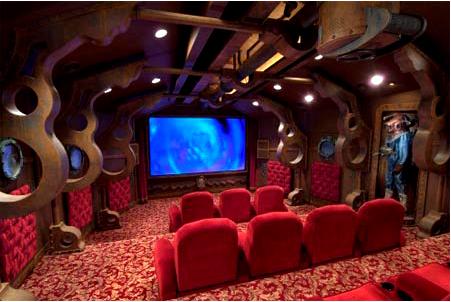 home theater decorado