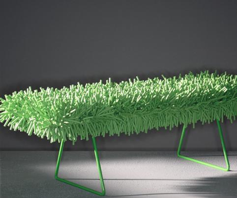 banco bertoia verde
