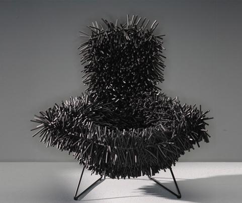 cadeira bertoia preta