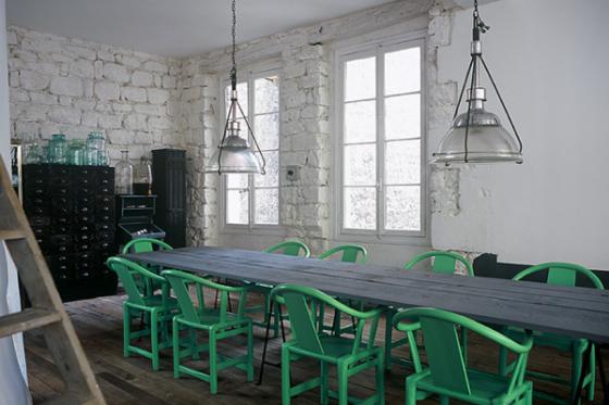 cadeiras verdes