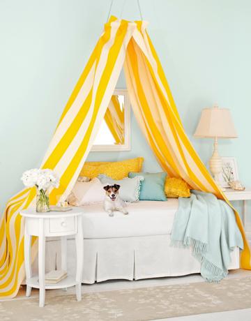 decoracao azul e amarelo