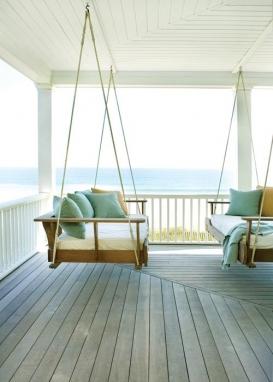 varanda de casa de praia