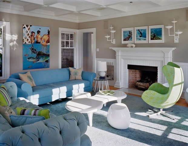 Sala De Estar Cinza Azul E Amarelo ~ vantagem aqui é que você consegue variar o humor do quarto mudando