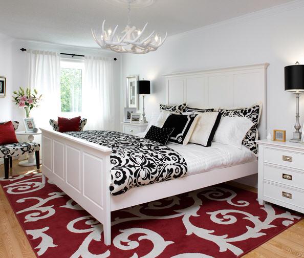 cama branca e preta