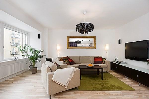 Espelho Na Sala De Tv Pequena ~ Ter um espaço para entrar na sala por trás do sofá é melhor, mas