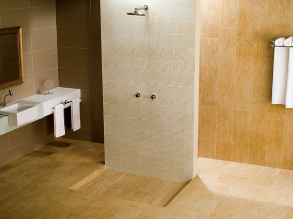banheiro madeira