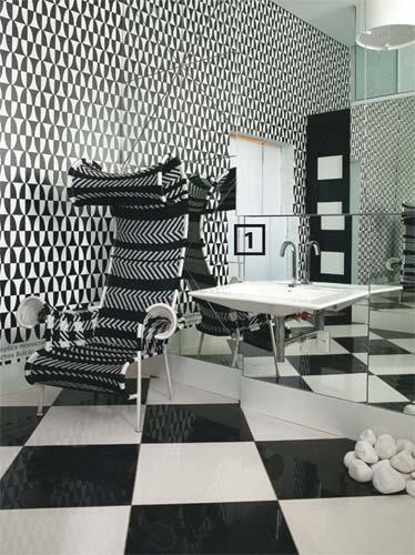 preto e branco  casa da idea -> Decoracao De Banheiro Com Revestimento Preto E Branco