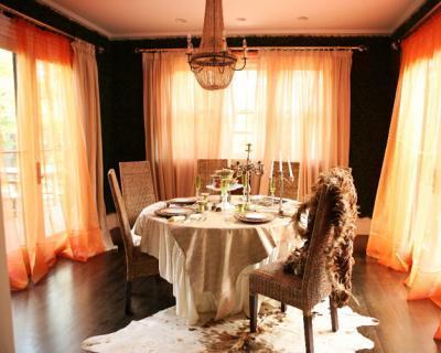 cortinas para sala laranja