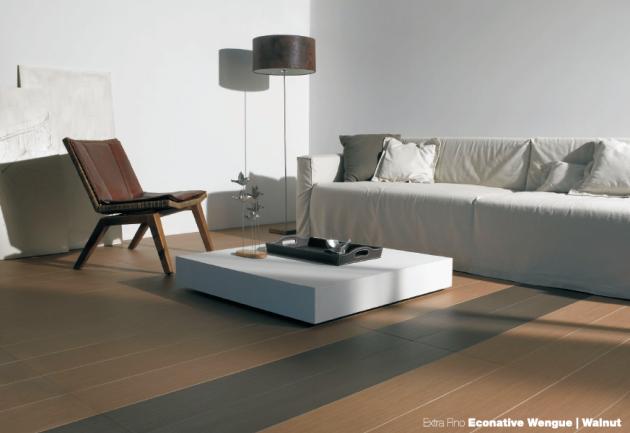 piso de porcelanato madeira