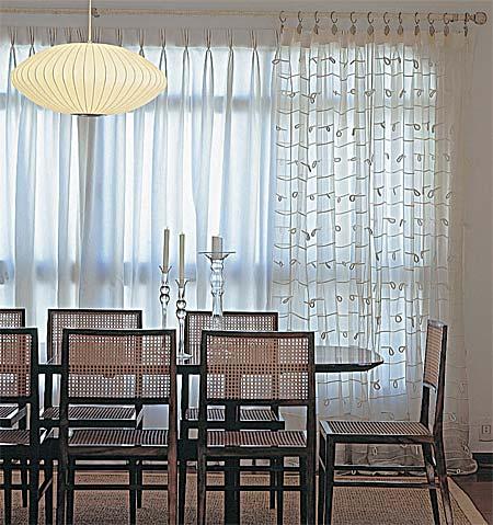 cortina transparente