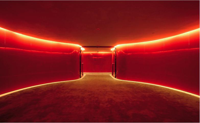 corredor vermelho