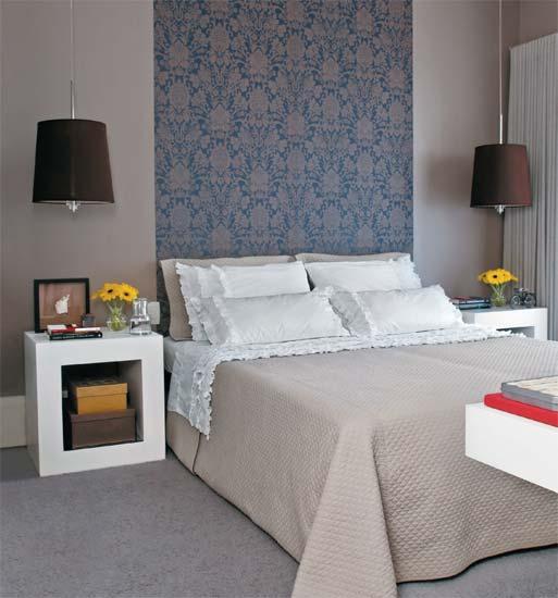 decoracao alternativa para quarto de casal:Papel De Parede Quarto