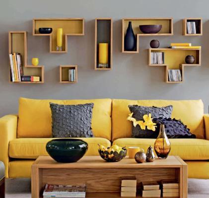 O que fazer com um sofá amarelo? | casa da idea