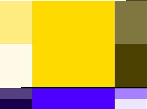 paleta amarelo azul