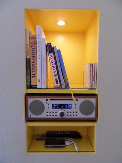 nicho para som e livros
