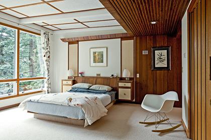 quarto com madeira