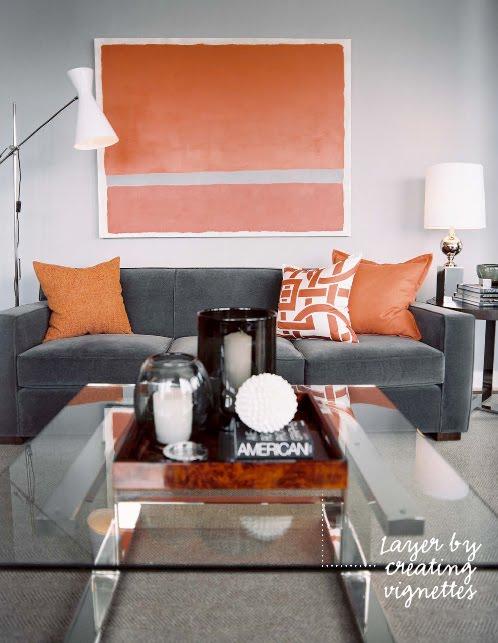sofa cinza