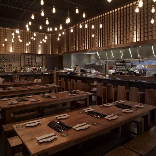 iluminacao de restaurante