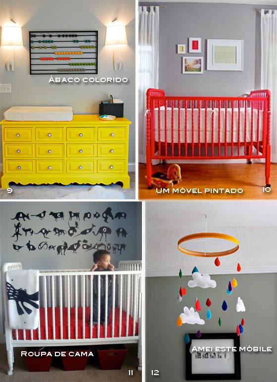moveis coloridos quarto de bebê
