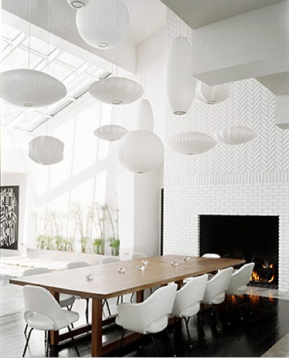 luminarias para mesa de jantar