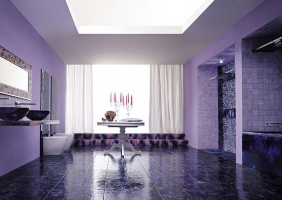 banheiro colorido e moderno