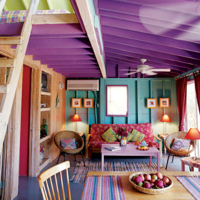sala azul e roxa
