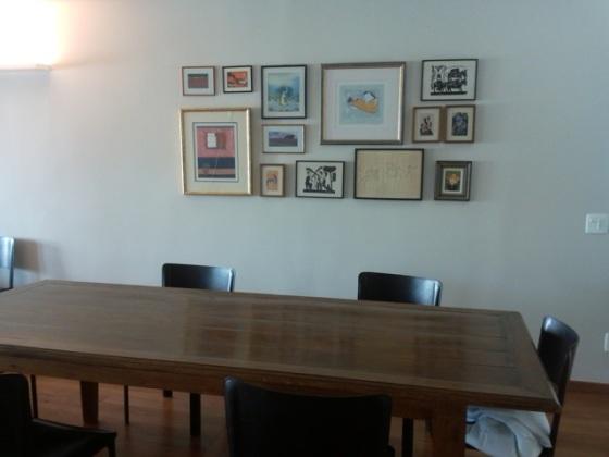 Quadro De Fotos Na Sala De Jantar ~ Olha como ficou a sala de jantar com os quadros O retângulo foi