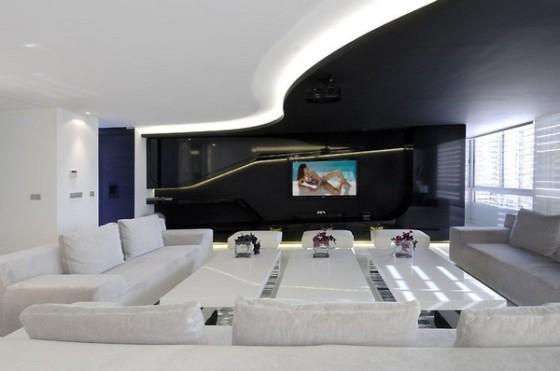 home theater preto e branco