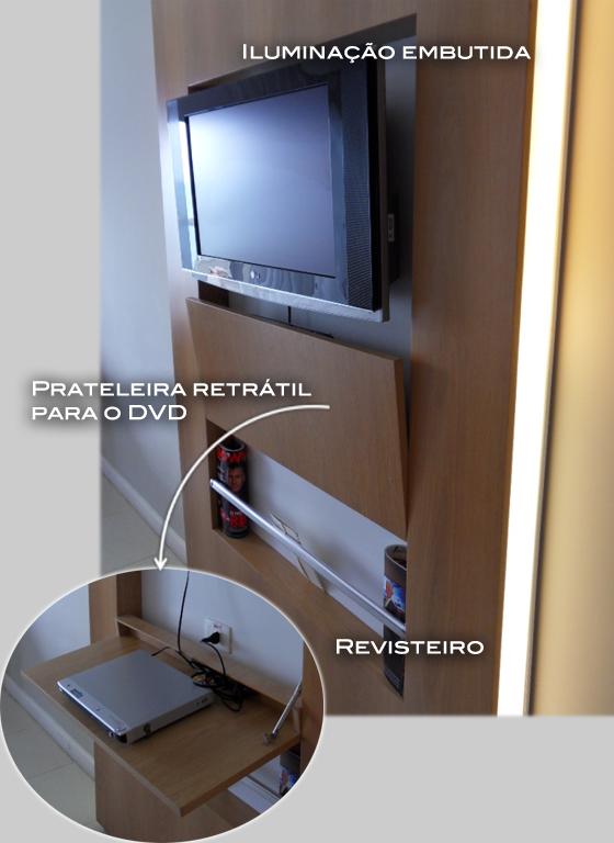 rack de televisão, dvd e home theater