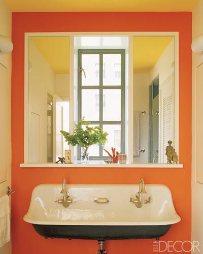 decoracao lavabo laranja