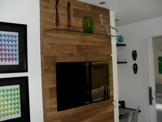 painel de mdf para sala e embutir televisao
