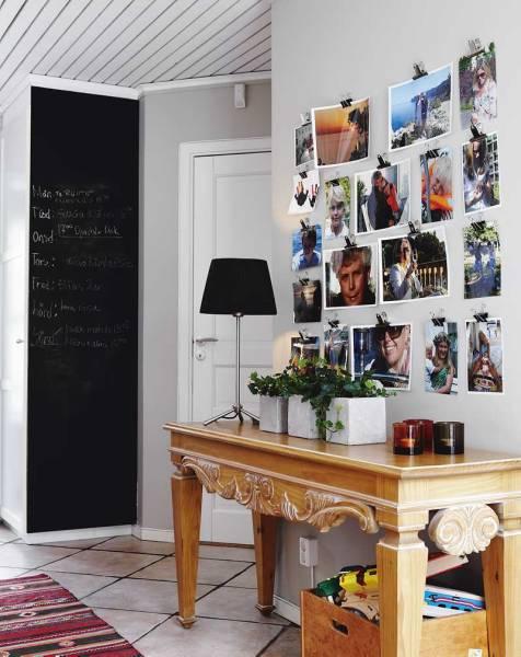 parede pintada de quadro de giz