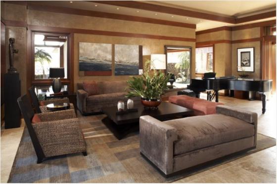 sofa marrom em camurça
