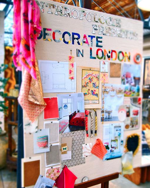 painel de ideias para decoração