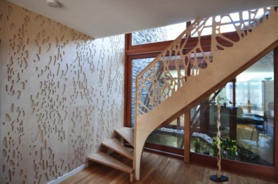 textura moderna na parede